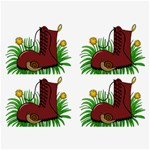 Boot in the grass Belt Buckles