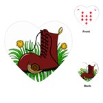 Boot in the grass Playing Cards (Heart)