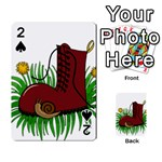Boot in the grass Playing Cards 54 Designs