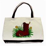 Boot in the grass Basic Tote Bag