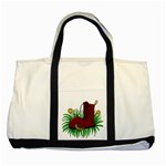 Boot in the grass Two Tone Tote Bag
