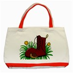 Boot in the grass Classic Tote Bag (Red)