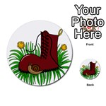Boot in the grass Multi-purpose Cards (Round)