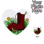 Boot in the grass Multi-purpose Cards (Heart)