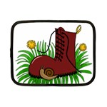 Boot in the grass Netbook Case (Small)