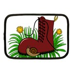 Boot in the grass Netbook Case (Medium)