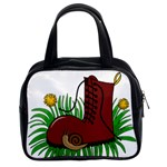 Boot in the grass Classic Handbags (2 Sides)