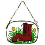 Boot in the grass Chain Purses (Two Sides)