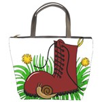 Boot in the grass Bucket Bags