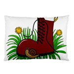 Boot in the grass Pillow Case