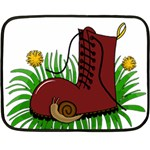 Boot in the grass Double Sided Fleece Blanket (Mini)