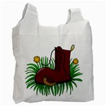Boot in the grass Recycle Bag (Two Side)