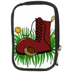 Boot in the grass Compact Camera Cases