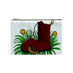 Boot in the grass Cosmetic Bag (Medium)