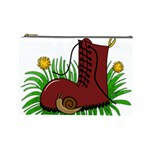 Boot in the grass Cosmetic Bag (Large)