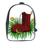 Boot in the grass School Bags(Large)