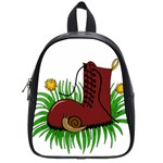 Boot in the grass School Bags (Small)