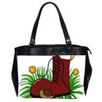 Boot in the grass Office Handbags (2 Sides)