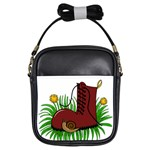 Boot in the grass Girls Sling Bags