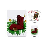 Boot in the grass Playing Cards (Mini)