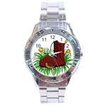 Boot in the grass Stainless Steel Analogue Watch