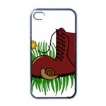 Boot in the grass Apple iPhone 4 Case (Black)