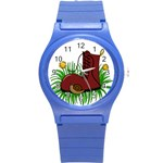 Boot in the grass Round Plastic Sport Watch (S)