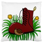 Boot in the grass Large Cushion Case (One Side)