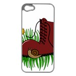 Boot in the grass Apple iPhone 5 Case (Silver)