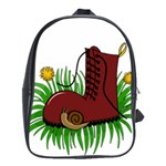 Boot in the grass School Bags (XL)