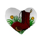 Boot in the grass Standard 16  Premium Heart Shape Cushions