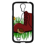 Boot in the grass Samsung Galaxy S4 I9500/ I9505 Case (Black)