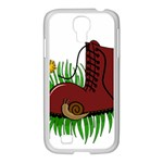 Boot in the grass Samsung GALAXY S4 I9500/ I9505 Case (White)