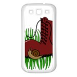 Boot in the grass Samsung Galaxy S3 Back Case (White)