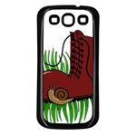 Boot in the grass Samsung Galaxy S3 Back Case (Black)