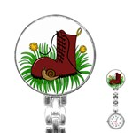 Boot in the grass Stainless Steel Nurses Watch