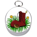Boot in the grass Silver Compasses