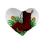 Boot in the grass Standard 16  Premium Flano Heart Shape Cushions