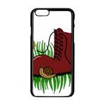 Boot in the grass Apple iPhone 6/6S Black Enamel Case
