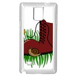 Boot in the grass Samsung Galaxy Note 4 Case (White)