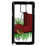 Boot in the grass Samsung Galaxy Note 4 Case (Black)
