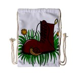 Boot in the grass Drawstring Bag (Small)