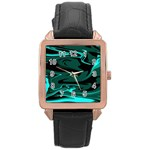 Hauntedlagoon Rose Gold Leather Watch