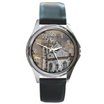 Exterior Facade Antique Colonial Church Olinda Brazil Round Metal Watch