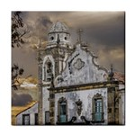 Exterior Facade Antique Colonial Church Olinda Brazil Tile Coasters