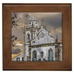 Exterior Facade Antique Colonial Church Olinda Brazil Framed Tiles