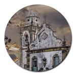 Exterior Facade Antique Colonial Church Olinda Brazil Round Mousepads