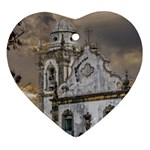 Exterior Facade Antique Colonial Church Olinda Brazil Ornament (Heart)