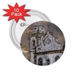 Exterior Facade Antique Colonial Church Olinda Brazil 2.25  Buttons (10 pack)