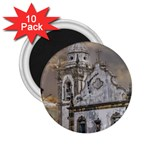 Exterior Facade Antique Colonial Church Olinda Brazil 2.25  Magnets (10 pack)